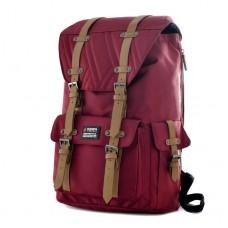 """Olympia Hopkins 18"""" Backpack-Burgundy"""