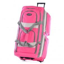 Olympia 33 Inch 8 Pocket Rolling Duffel-Pink