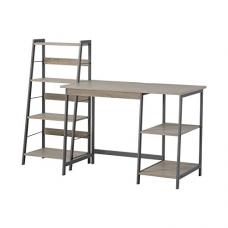 Homestar 2 Piece Laptop Desk & 4-Shelf Bookcase Set, 43