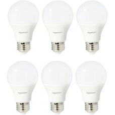 AmazonBasics 60 Watt Equivalent, Soft White, Non-Dimmable, A19 LED Light Bulb | 6-Pack
